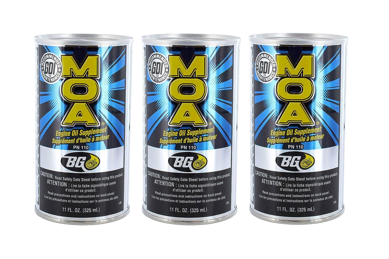 BG Moa Motor Oil Additive 11オンス3パック B01CDMU3KE