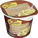 Maggi 5 Minuten Terrine Spaghetti in Cremiger Schinkensauce, 8er Pack (8 x 64 g) Becher
