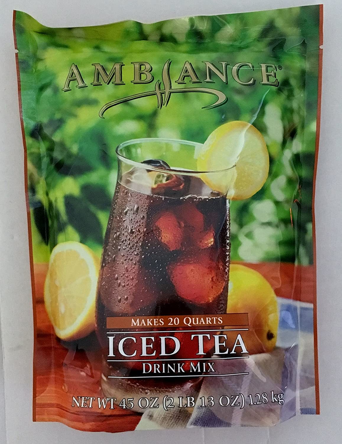45oz Ambiance Iced Tea Drink Mix Makes 20 Quarts Just Add Water