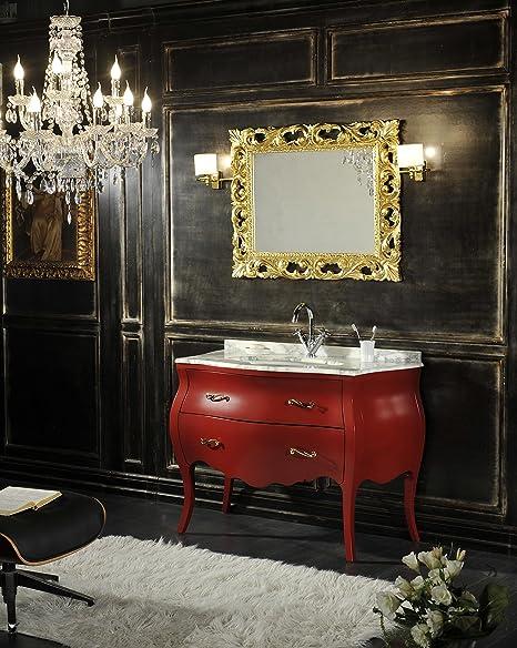 Mobili Da Bagno Barocco.Mobile Bagno Barocco Shabby Colorato In Rosso Amazon It Casa E