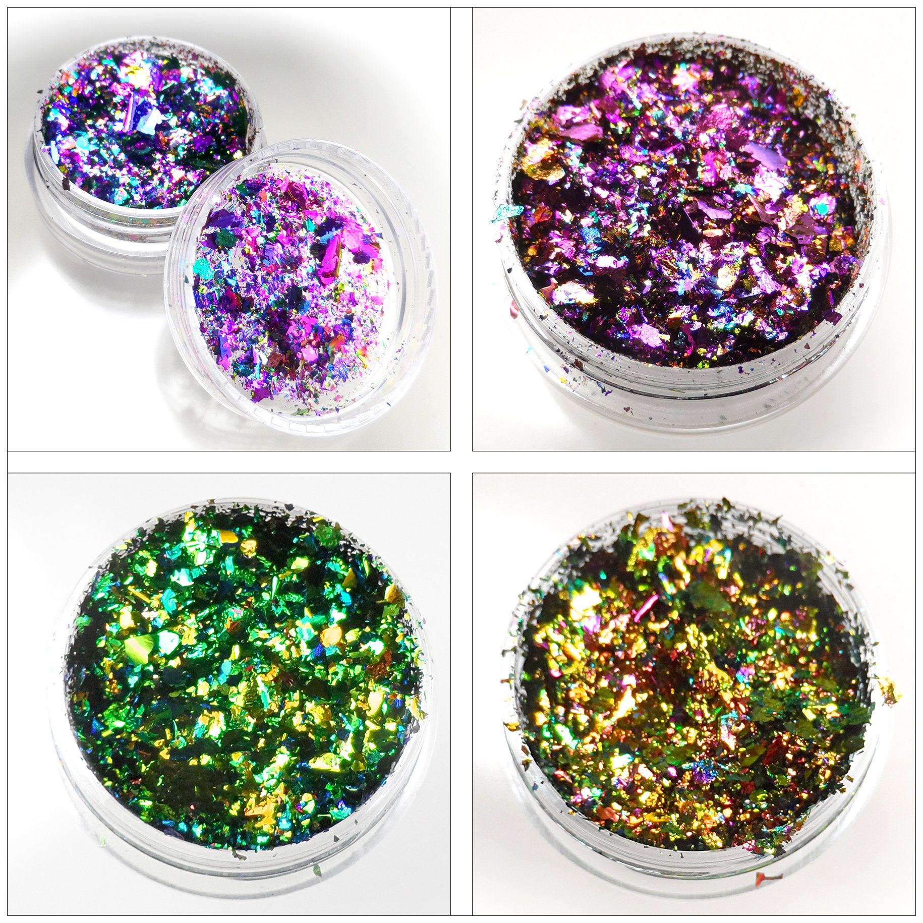 Lumiere Lusters Holographic Metallic Foil Art Pigments - Luxe Pack Sampler Multicolor Flakes