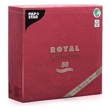 "f413d469d1 Papstar Servietten / Tissueservietten bordeaux ""Royal Collection""  40 x 40 cm, 1"