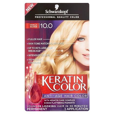 Buy Schwarzkopf Keratin Color Anti Age 100 Vanilla Blonde Hair