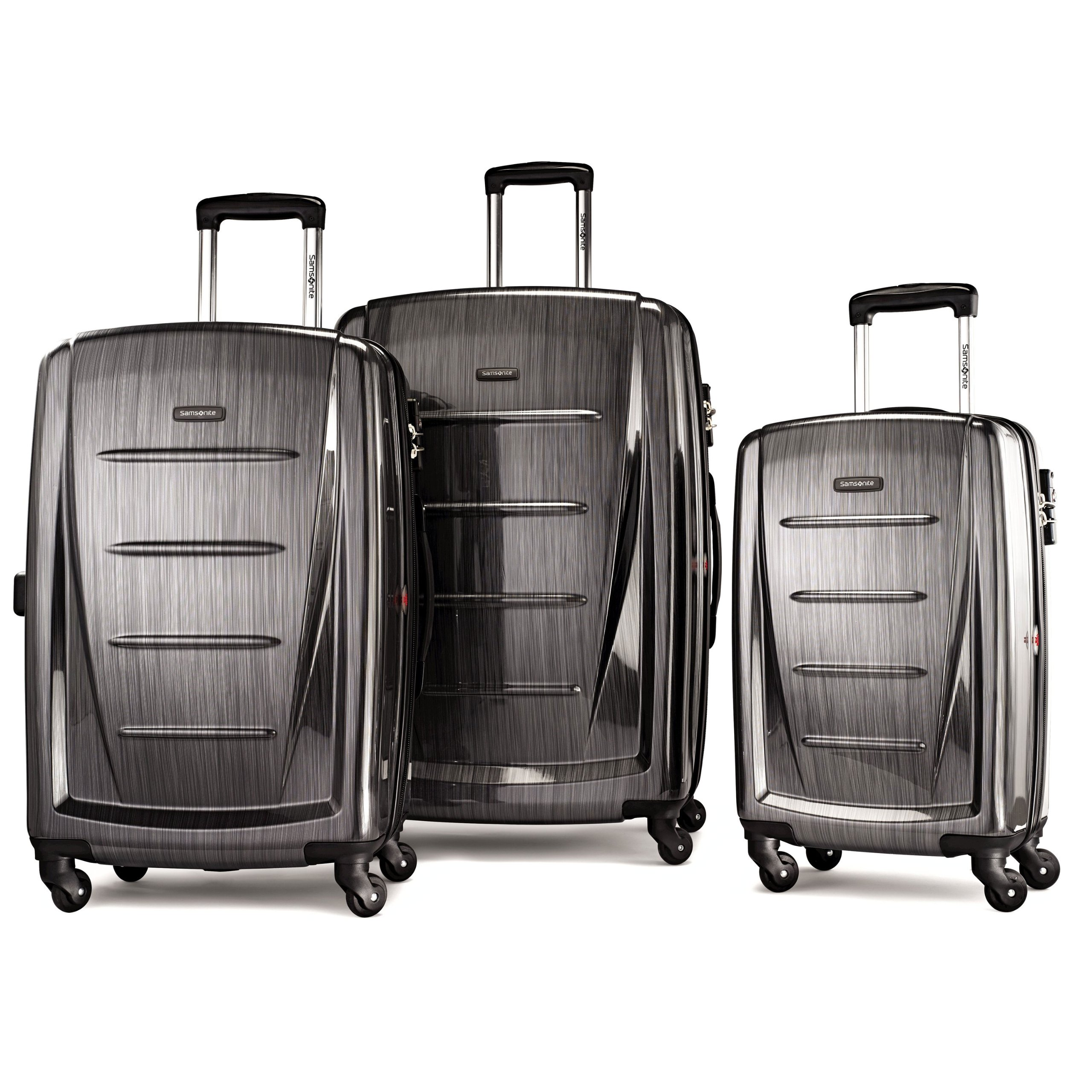 Samsonite Winfield 2 3PC Hardside (20/24/28) Luggage Set, Charcoal by Samsonite