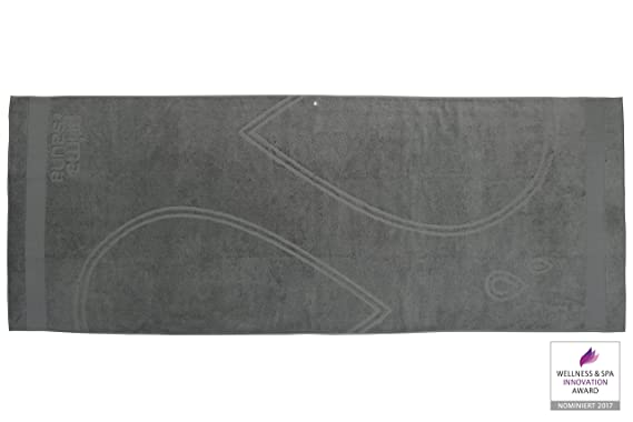 Toalla de sauna de lujo XXL prima finnline 210 x 80 cm 550 G/m² - toalla de baño - toalla de baño, tela, antracita, 210 x 80 cm: Amazon.es: Hogar