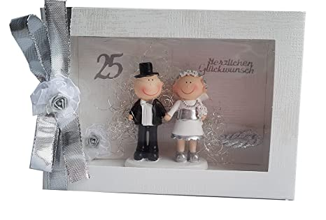 Der Kleine Dekoladen Geldgeschenk Box Silber Silberhochzeit Geldgeschenk Brautpaar Silber
