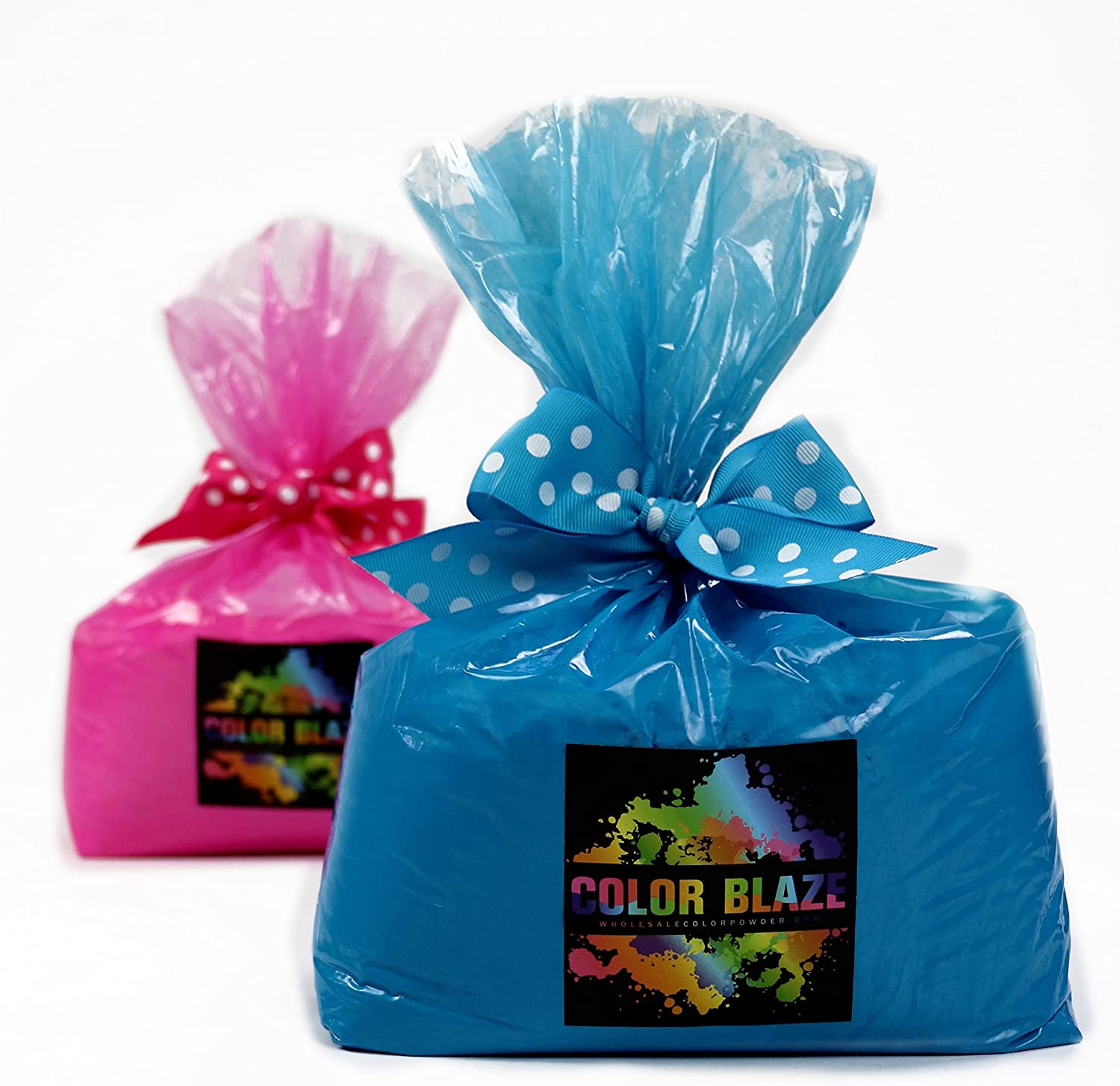 5 lbs Pink and Blue - Combo Set - 10 Pounds in total, 5 pounds Pink and 5 pounds Blue - Perfect for Gender Reveals, Burnouts, Color Toss, Photoshoot and more!