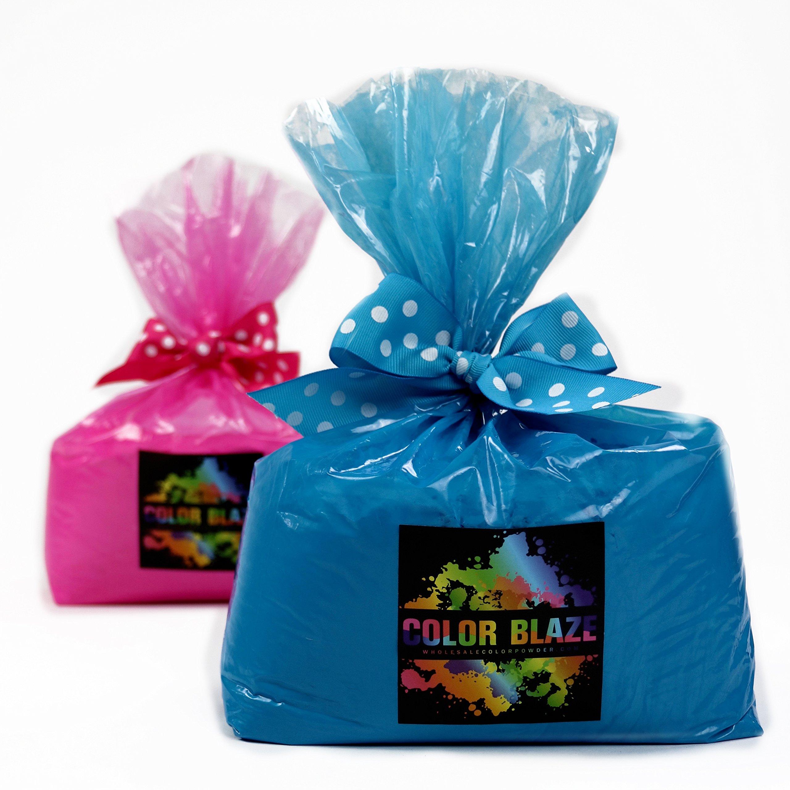 Gender Reveal 5lbs Pink/5lbs Blue Color Powder by Color Blaze Supply/Wholesale Color Powder by Color Blaze Supply/Wholesale Color Powder
