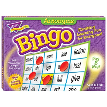 TREND ENTERPRISES INC. Antonyms Bingo - Juego de Mesa: Amazon.es ...