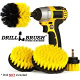 Drillbrush 4 Piece Nylon Power Brush Tile Grout Bathroom Cleaning Scrub Brush Kit