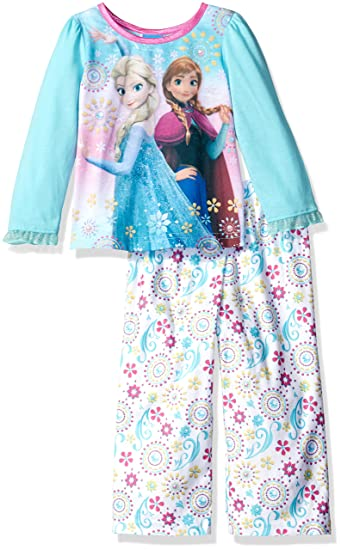 53e5830a231c Amazon.com  Disney Little Girls  Toddler Frozen 2-Piece Pajama Set ...