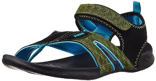ab4f9b761817 Puma Men s Jiff 5 Ind. Black-Shadow-Lime-Blue Athletic   Outdoor ...