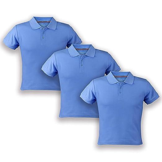 4b1009ce32 Premium Boys' Short Sleeve Pique Polo Shirt, Uniform - 3 Pack