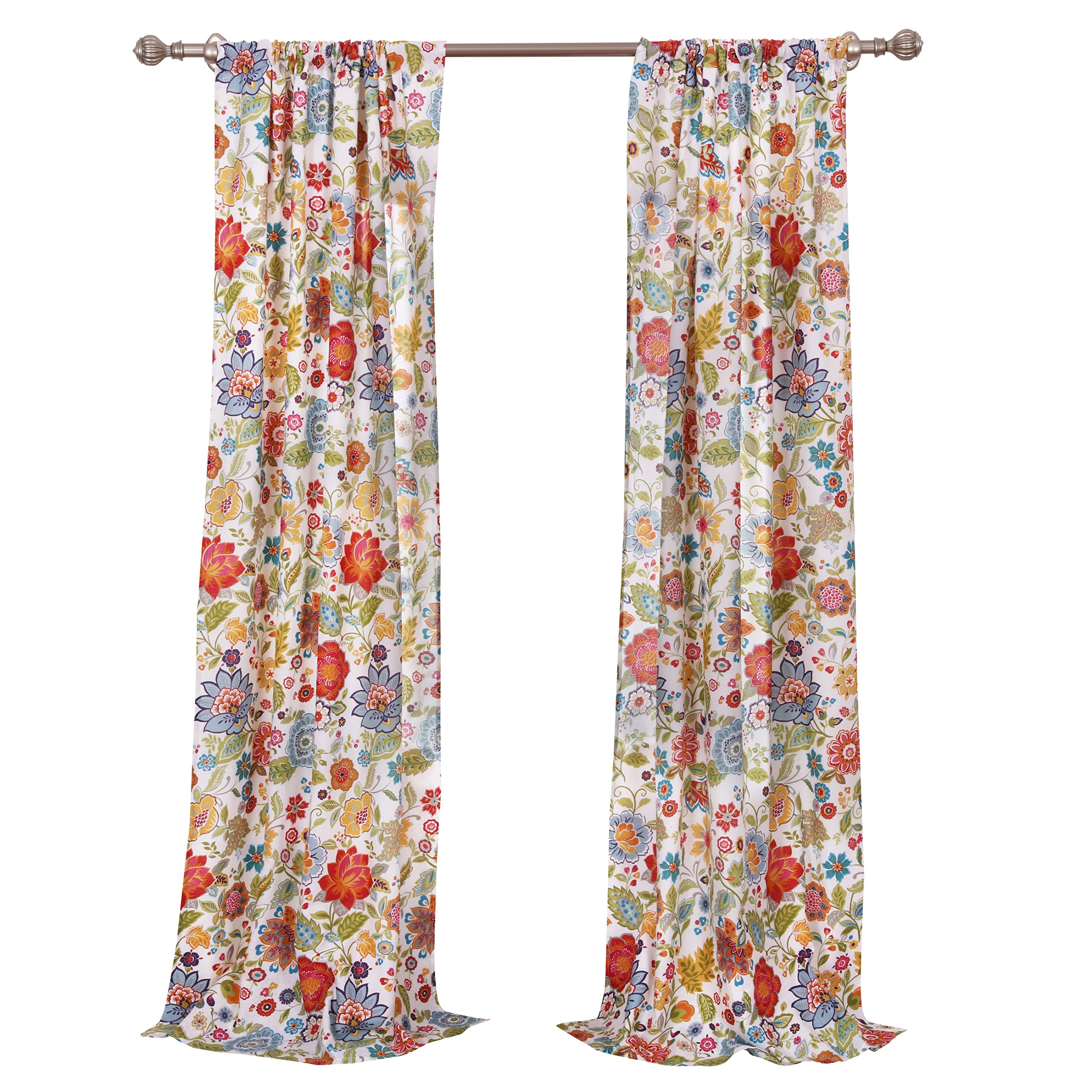 Greenland Home Astoria Curtain Panel Pair, 63'', White