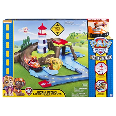 Paw Patrol – Skye & Zuma's Lighthouse Rescue Track Set: Toys & Games