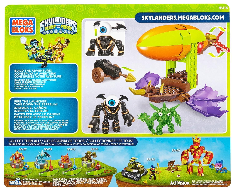 Montreal 95415 Megabloks Mega Bloks Skylanders Zeppelin Air Ship Assault Mega Brands America Inc