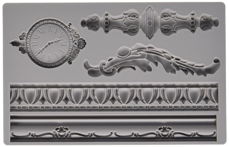 Prima Marketing 814823 Baroque No.6 Iron Orchid Designs Vintage Art Decor Mold, Grey Prima Maketing Inc