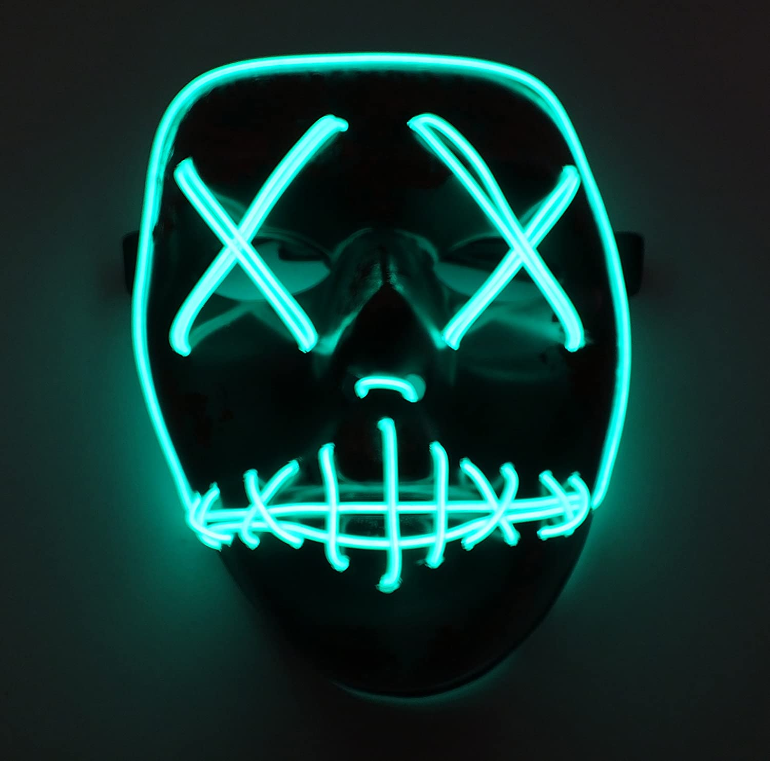 Amazon.com: ASVP Shop LED Light Up Mask from The Purge Election Year - Great for Festival, Cosplay, Halloween, Costume - One Size: Clothing