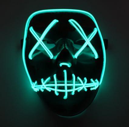 La Purga ELECCIONES Año Iluminación Led Máscara Festival Disfraz Halloween: Amazon.es: Ropa y accesorios