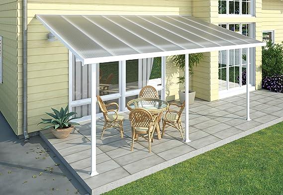 Chalet-Jardin Terraza de Aluminio Techo Aurora Blanco 5 x 3 m, 3x5.46, 701693: Amazon.es: Jardín