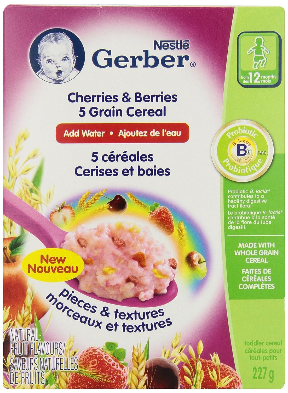 Gerber Apples & Oranges 5 Grain Cereal, Complete, Stage 4, 227g box (6 pack) Nestlé