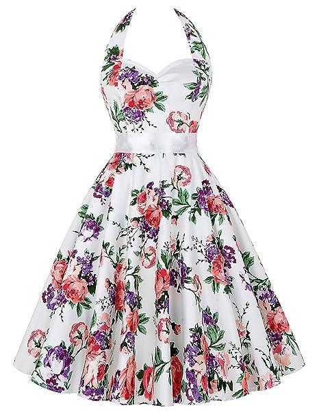 Vestido de Fiesta para las Mujeres de los años 50 Vintage Cocktail Còctel Swing Tamaño XXL