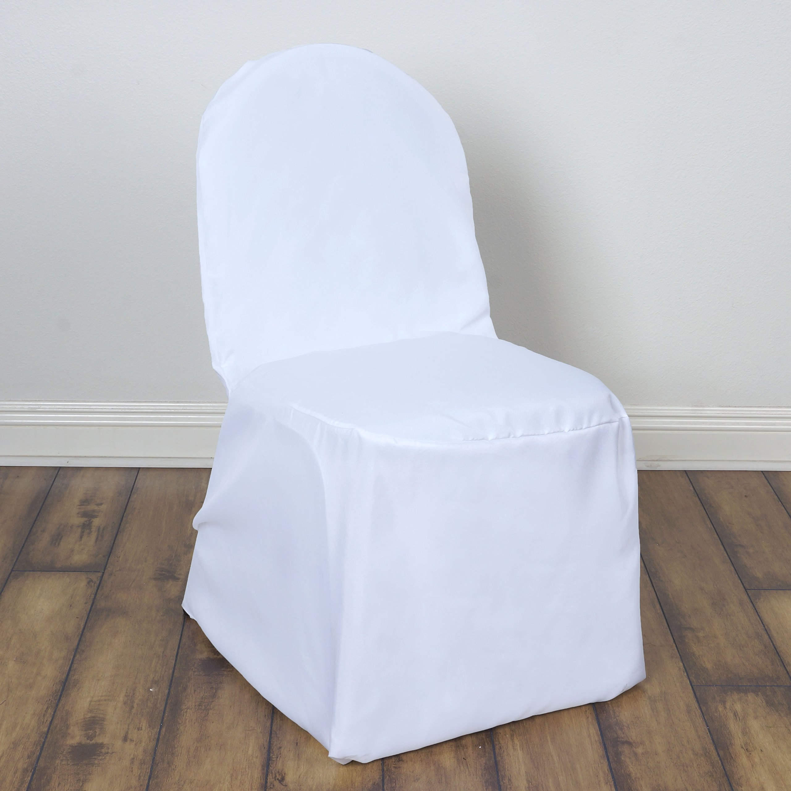 BalsaCircle 100 pcs White Polyester Banquet Chair Covers Slipcovers for Wedding Party Reception Decorations by BalsaCircle