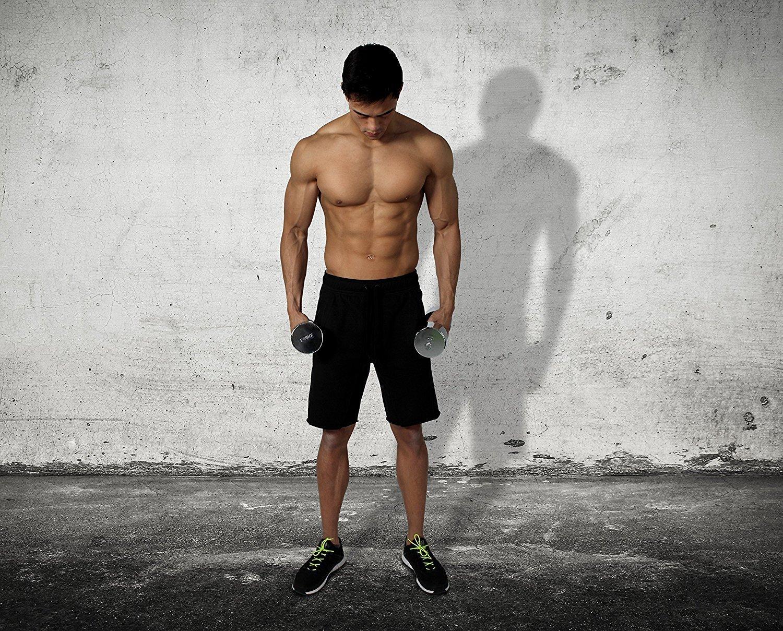 POWRX - 1 x Mancuerna cromada 8 kg - ideal para intensificar la FUERZA muscular -: Amazon.es: Deportes y aire libre