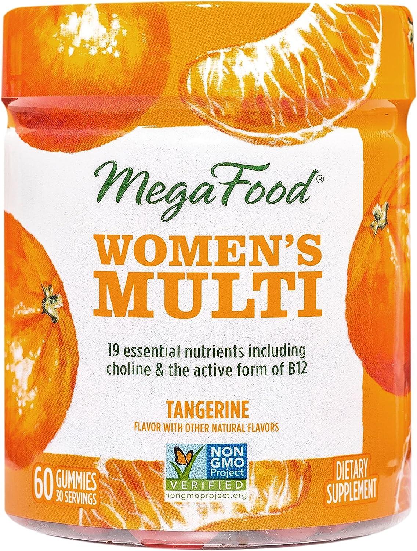 Megafood Tangerine Women's Multivitamin Gummies, 60 CT