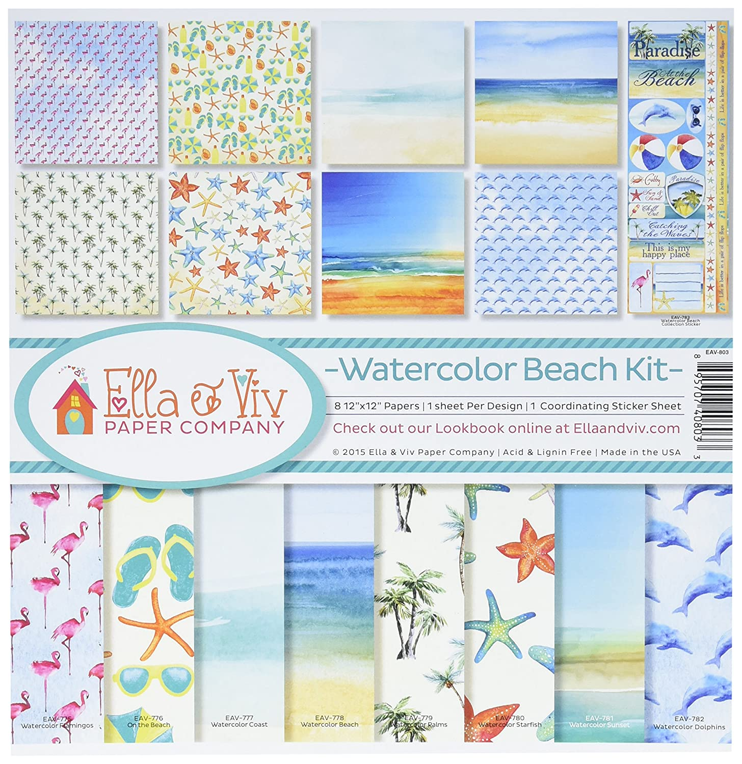 Reminisce EAV-803 Watercolor Beach Collection Kit