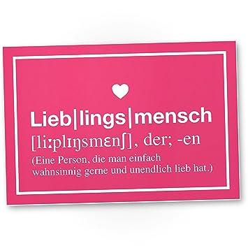 Dankedir Lieblingsmensch Definition Rosa Kunststoff Schild