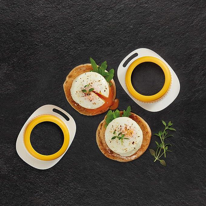 10,8/x 8,4/x 3,5/cm Amarillo Joseph Joseph poach-Pro Juego de 2/COCEDOR de Huevos