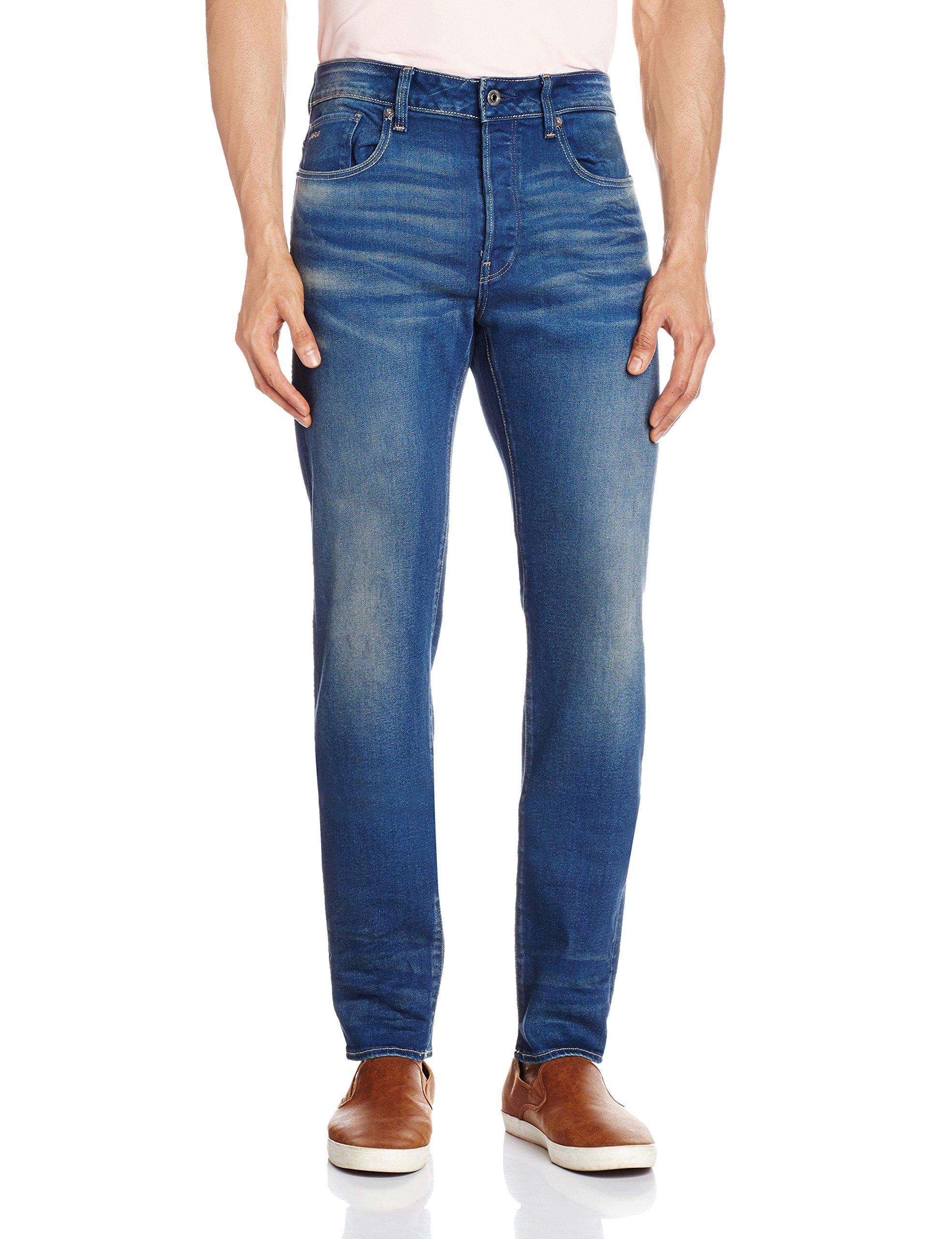G-Star Raw Men's 3301 Slim Fit Jean In Firro Denim, Medium Aged, 33x34