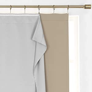 """Elrene SunVeil Extra Wide Thermal Blackout Curtain Liner, 40"""" x 60"""" (1, Light Grey"""