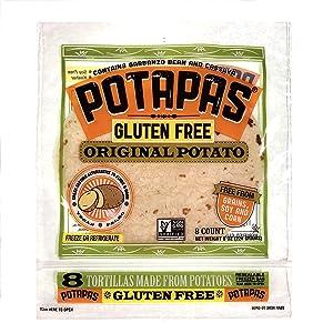 Potapas, Original Potato Tortillas, Gluten Free, 8 Tortillas per pack, 12-pack, 96 Tortillas