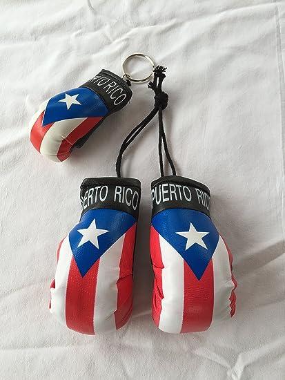 Amazon.com: Puerto Rico Mini guante de boxeo & Llavero ...