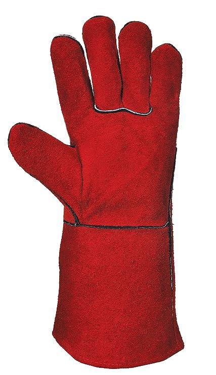 Soldador Heavyweight Guantes de protección contra el sudor de vacuno de hacha de piel para guantes