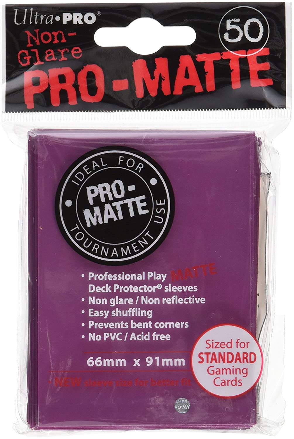 Ultra Pro Card Supplies Non-Glare Pro-Matte BlackBerry Standard Card Sleeves [50 ct] Ultra Products 330733