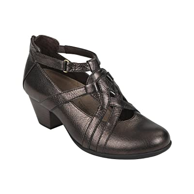 Earth Women's Virtue Metallic Leather Ankle-High Pump   Pumps