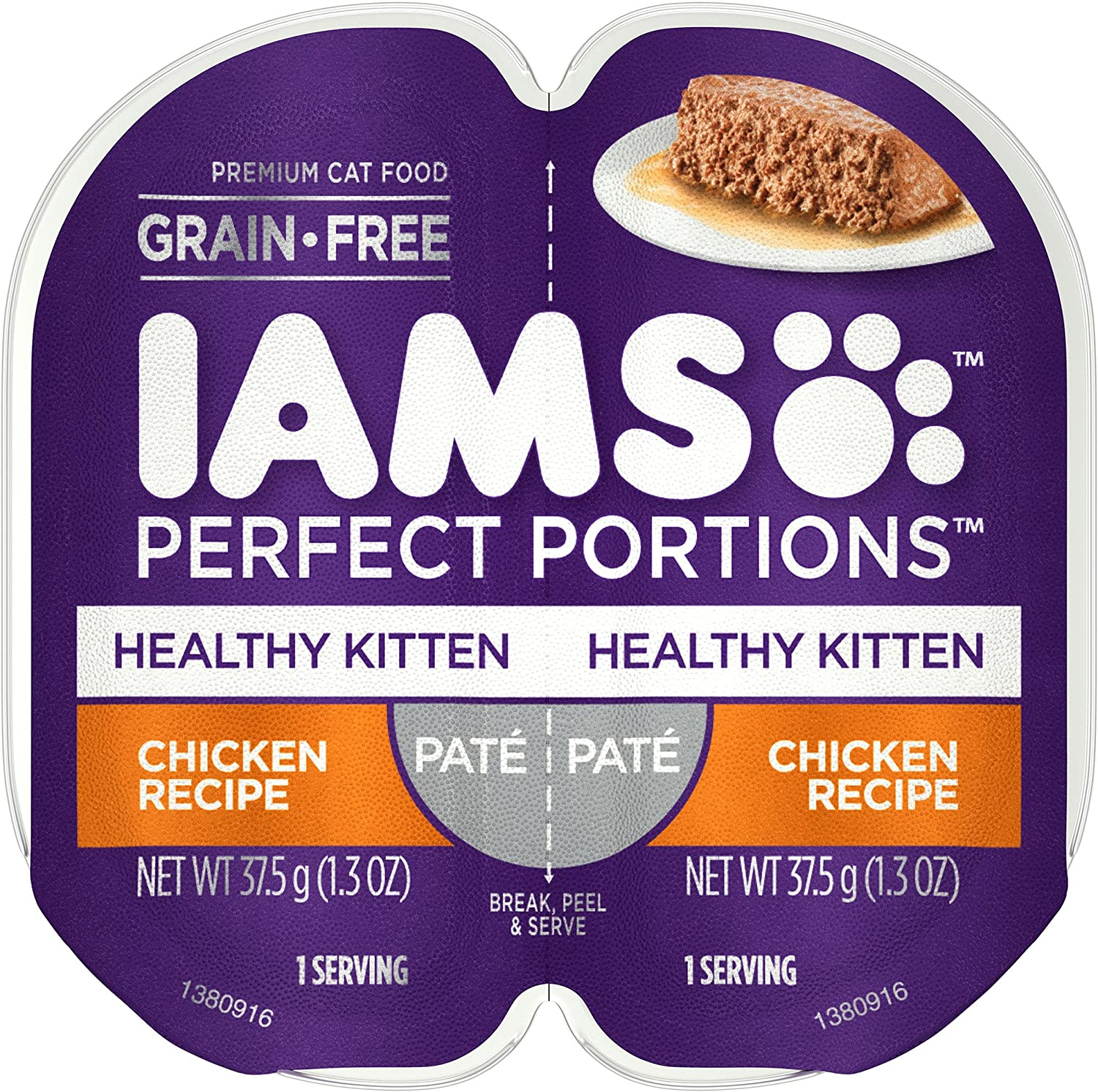 IAMS Perfect Portions Cuts in Gravy & Pate Kitten Grain Free Wet Cat Food, (24 Twin Packs)