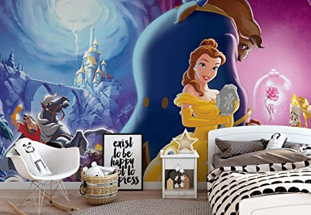 Disney Princesses Belle Beauty Beast Photo Wallpaper Wall Mural Easyinstall Paper Giant Wall Poster L 1525cm X 104cm Easyinstall Paper
