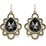 Fiorelli Costume Collection for Ladies with Pear Shaped Drop Earrings with Crystals