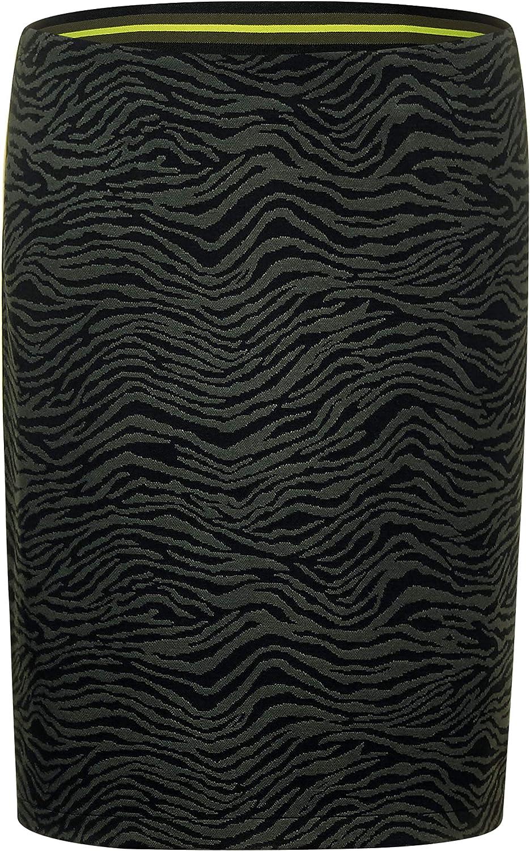 Street One - Falda para mujer, diseño de cebra Color negro. 38 ...