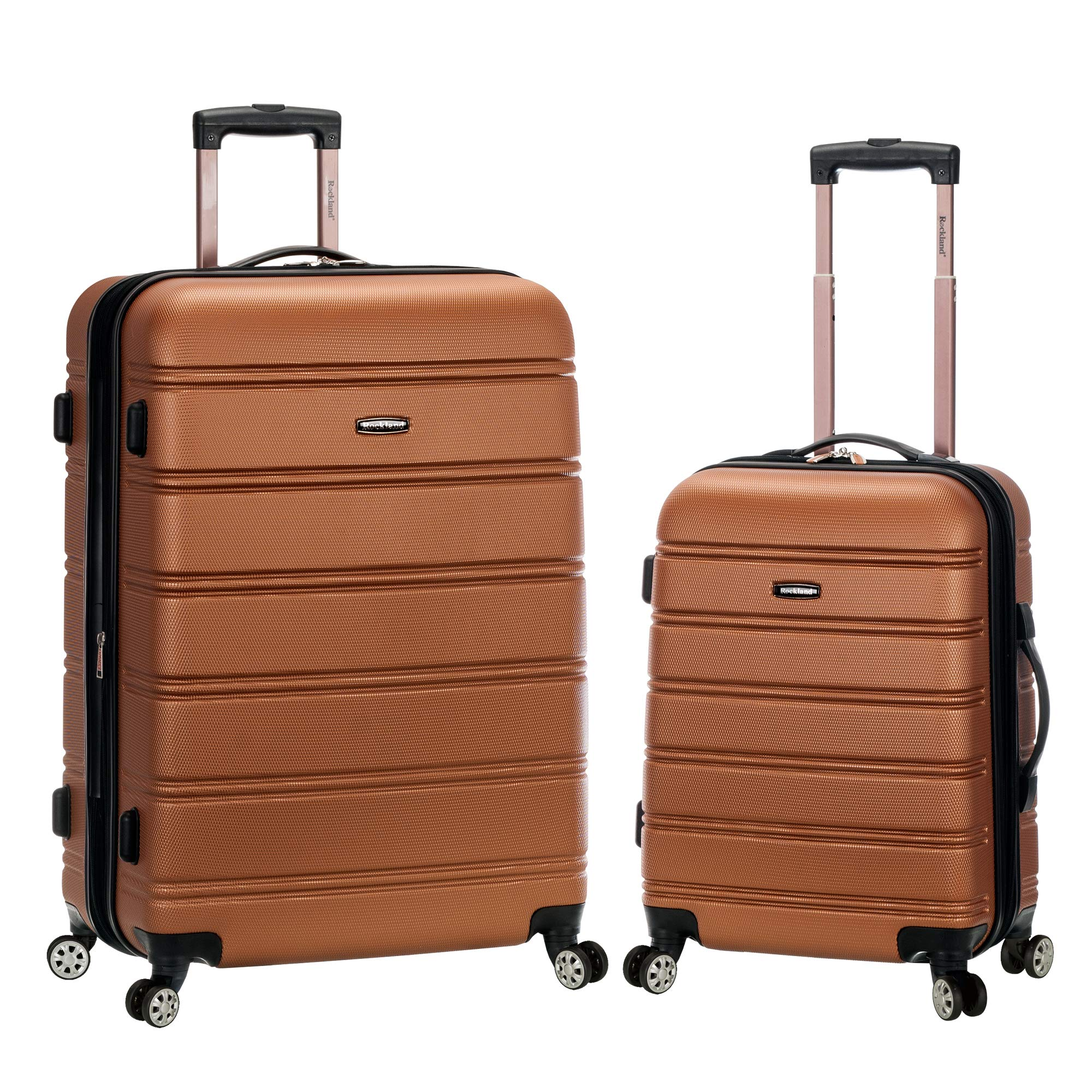 Rockland 20'', 28'' 2pc Expandable Abs Spinner Set, Brown