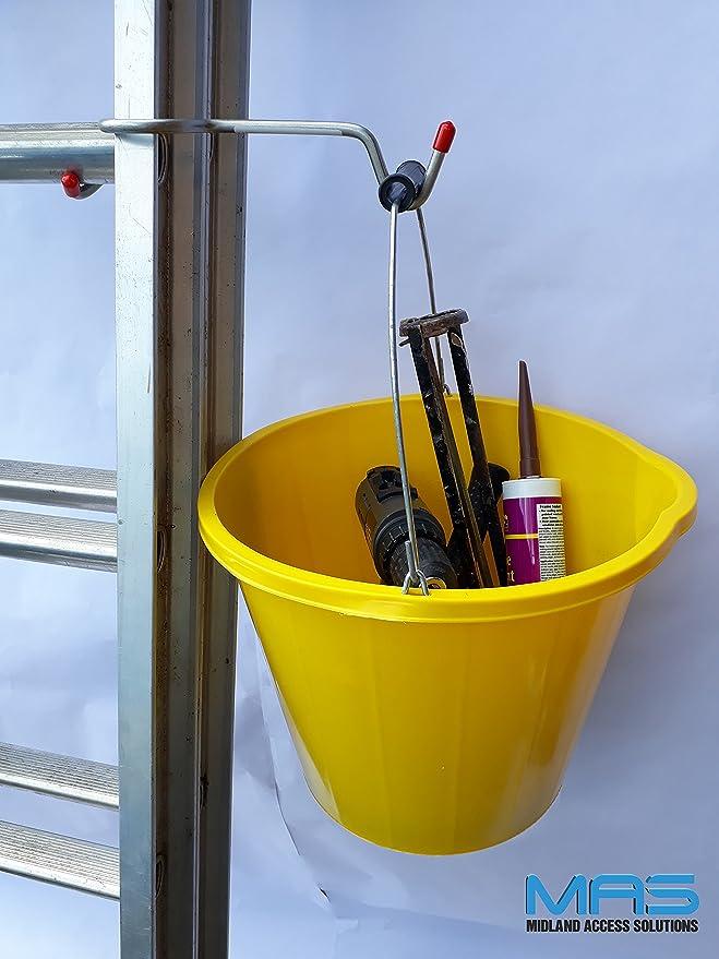 Escalera práctica soporte para cubo de escalera, soporte para maceta de pintura, acero inoxidable de escalera: Amazon.es: Bricolaje y herramientas