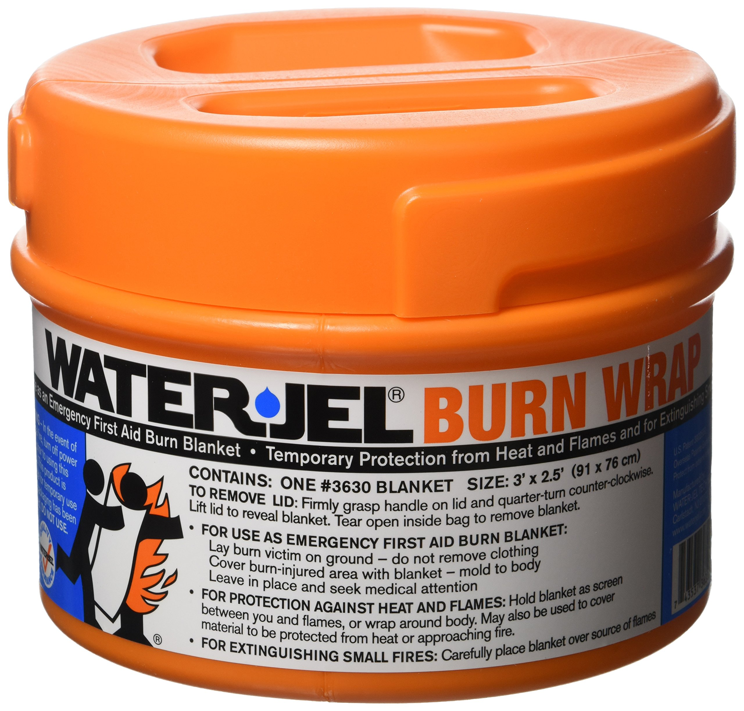 North by Honeywell 049030 Water-Jel Burn Wrap/Extinguisher, 3' x 2 1/2' by Honeywell