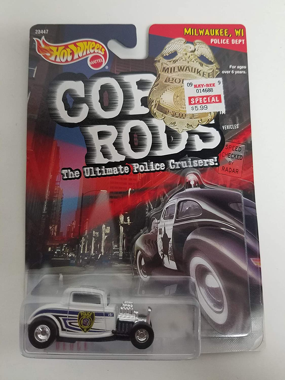 32 Duece 1999 Hot Wheels Cop Rods Milwaukee WI Police Department PD