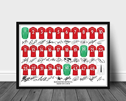 0359ddf9d The Signature Shop MANCHESTER UNITED FULL SQUAD TEAM SIGNED PRINTED ...