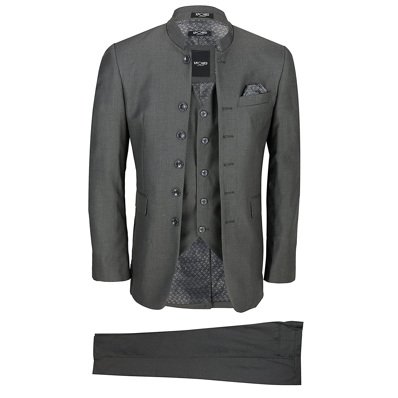 Xposed Herren Anzug Grau grau 116,84 cm 91,44 cm