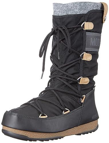52e764ea46cc1c Moon Boot Damen Stiefel Monaco Felt 24003200-003 schwarz 366988 ...